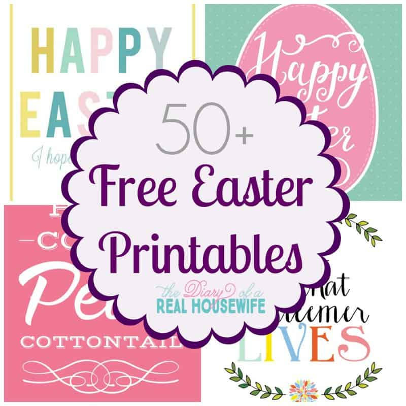 Easter Printables Collage - FREE