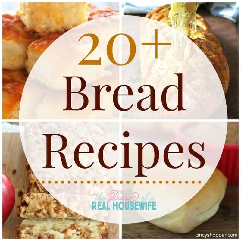 20 Bread Recipes collage