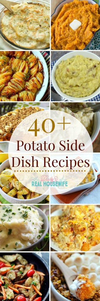 Over 40 great ideas for potato side dish recipes! Save these for the holiday season