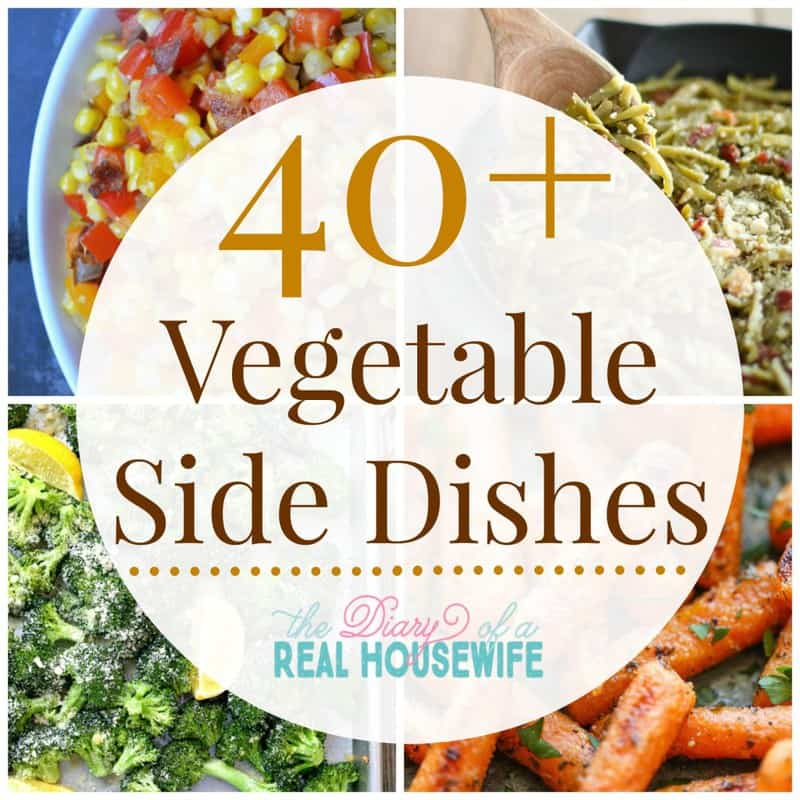 Vegetable Side Dishes! These are going to be perfect for the holiday season! I am always at a lose for sides!