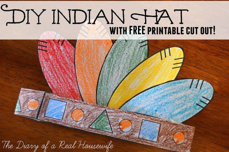Diy Indian Hat With Free Printable Cut Out The Diary Of