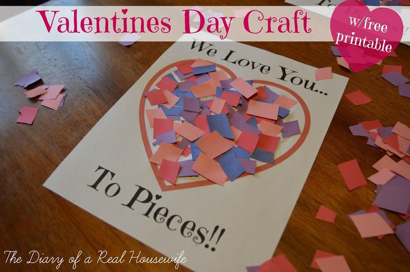 photograph about I Love You to Pieces Printable identified as Get pleasure from By yourself towards Components Valentines Working day Craft - Totally free Printable