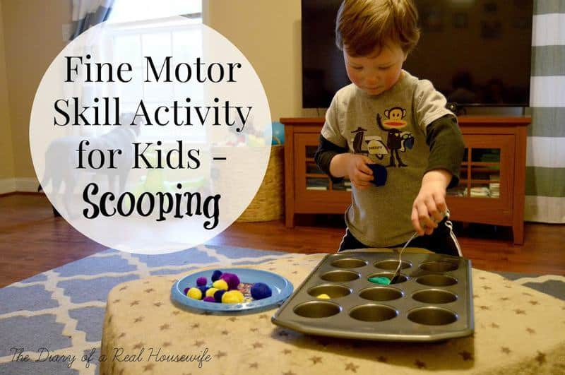 Fine Motor Skill Activity Scooping The Diary Of A Real