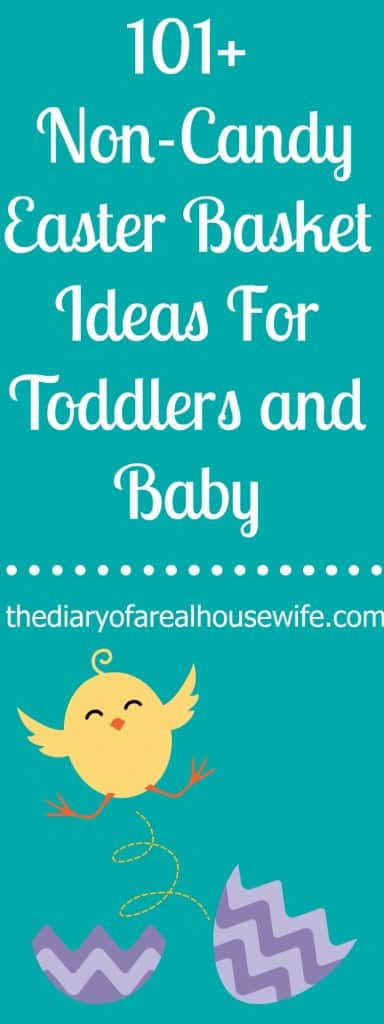 101 Non-Candy Easter Basket Ideas For Toddlers and Baby