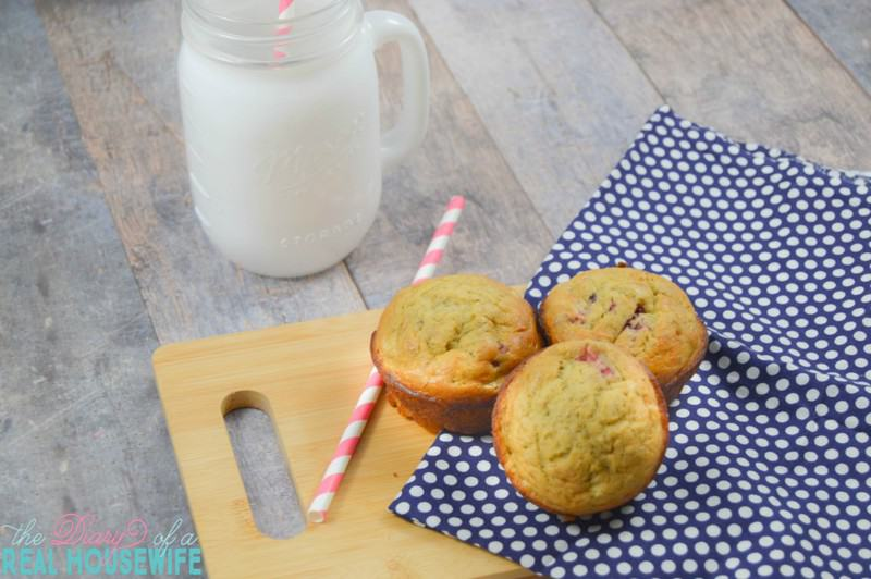 My kids love these! Low sugar and so yummy strawberry banana muffins.