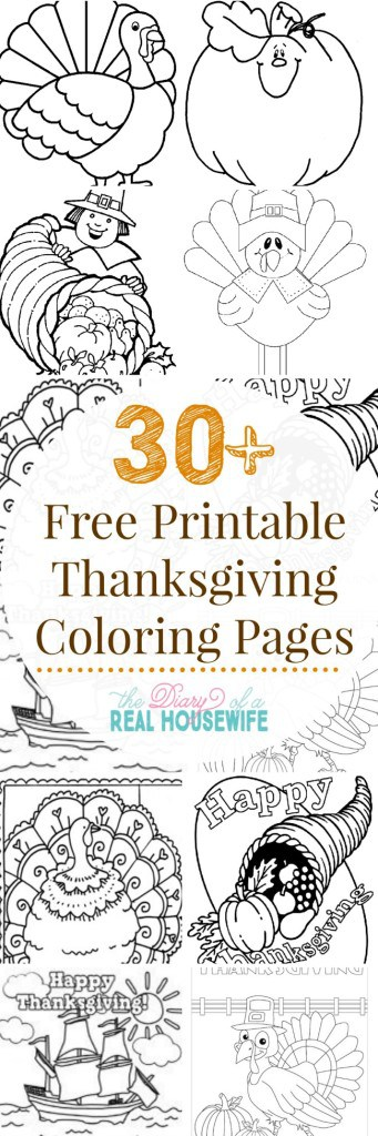 Easy Thanksgiving fun. Printable coloring pages for Thanksgiving.