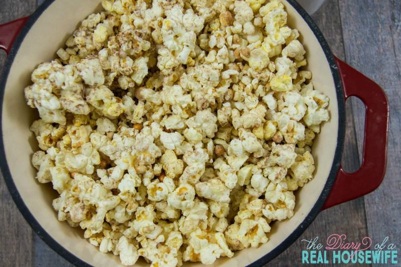 I love this recipe. Perfect for this time of year, Pumpkin Spice Popcorn