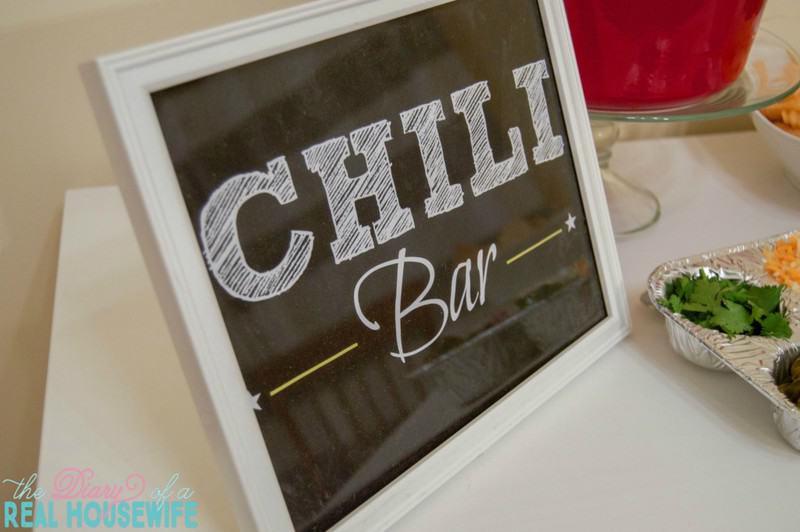 Chili Bar Free Printable