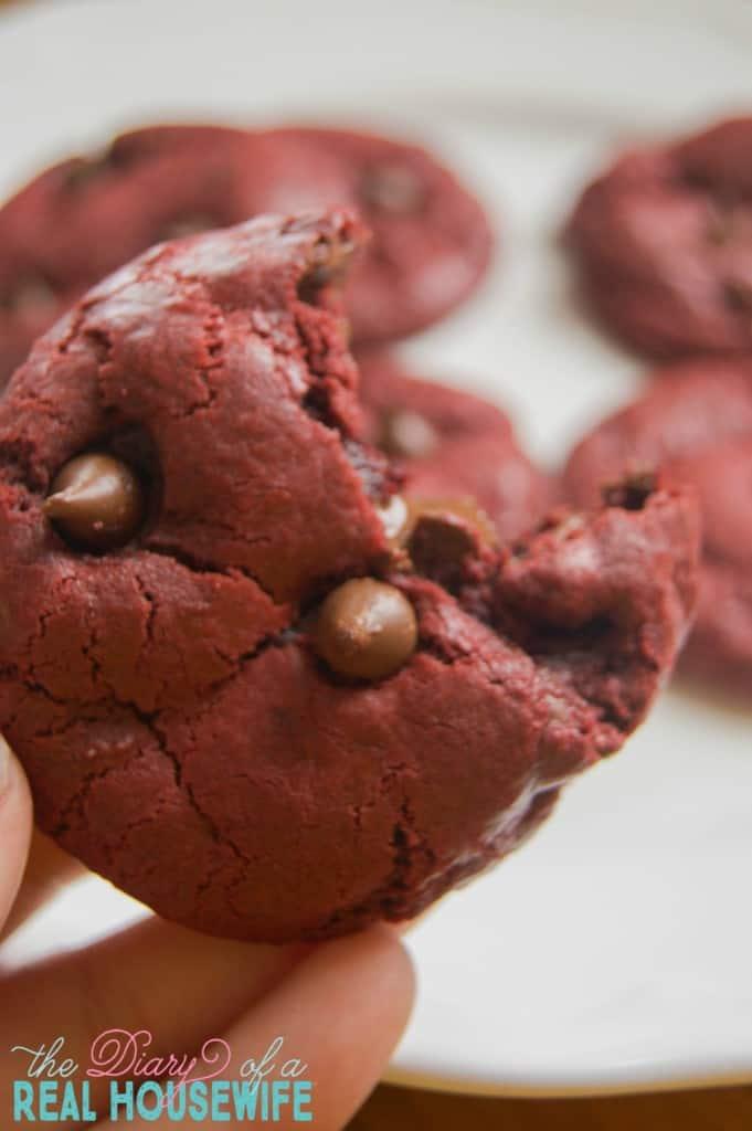 Chocolate Chip Red Velvet Cookies
