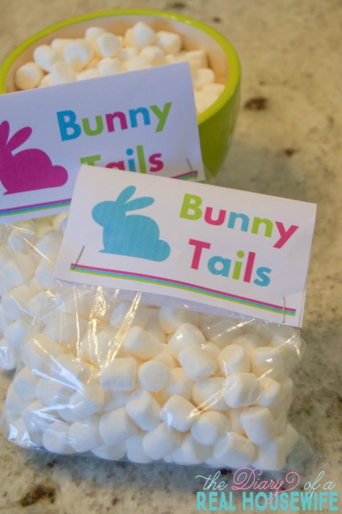Free Printable. Bunny Tails.