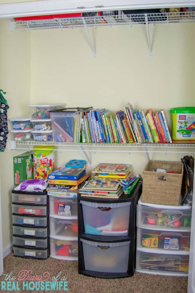 Homeschool Closet Organizations