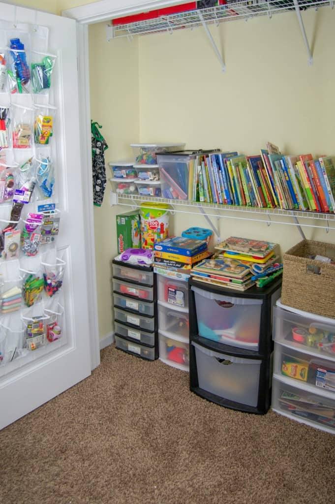 More Homeschool Closet Organizations