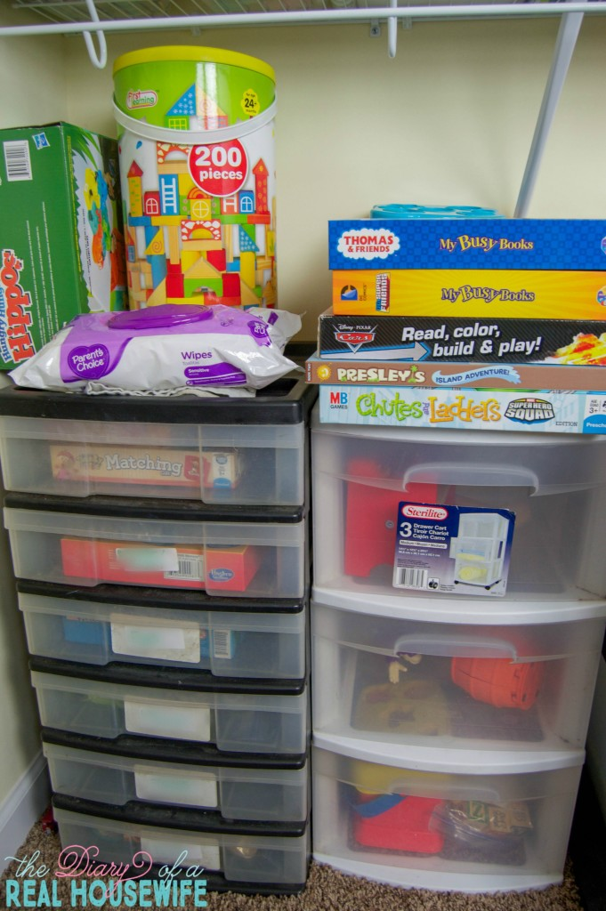 More of my Homeschool Closet Organizations