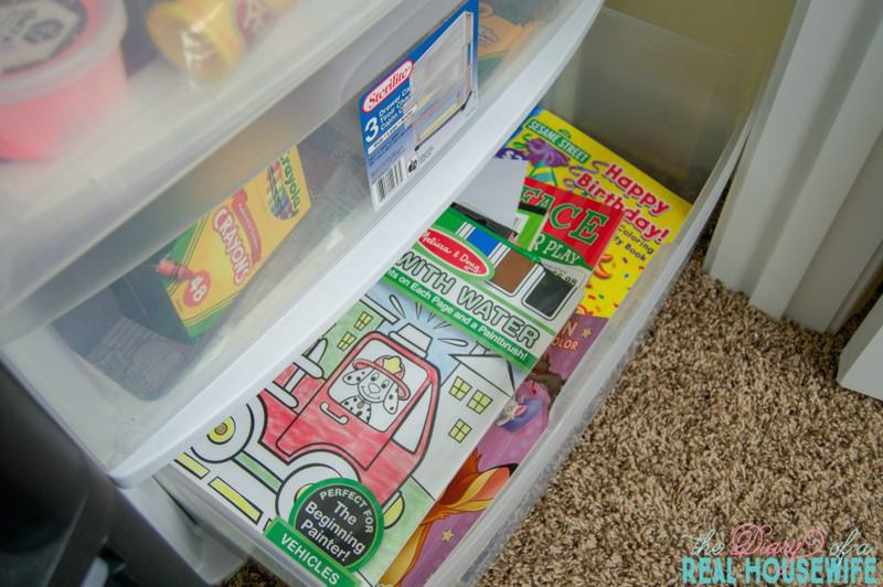 coloring books in the Homeschool Closet Organizations