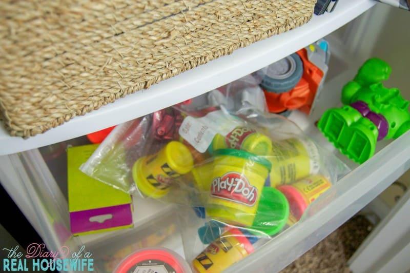 playdoh for Homeschool Closet Organizations