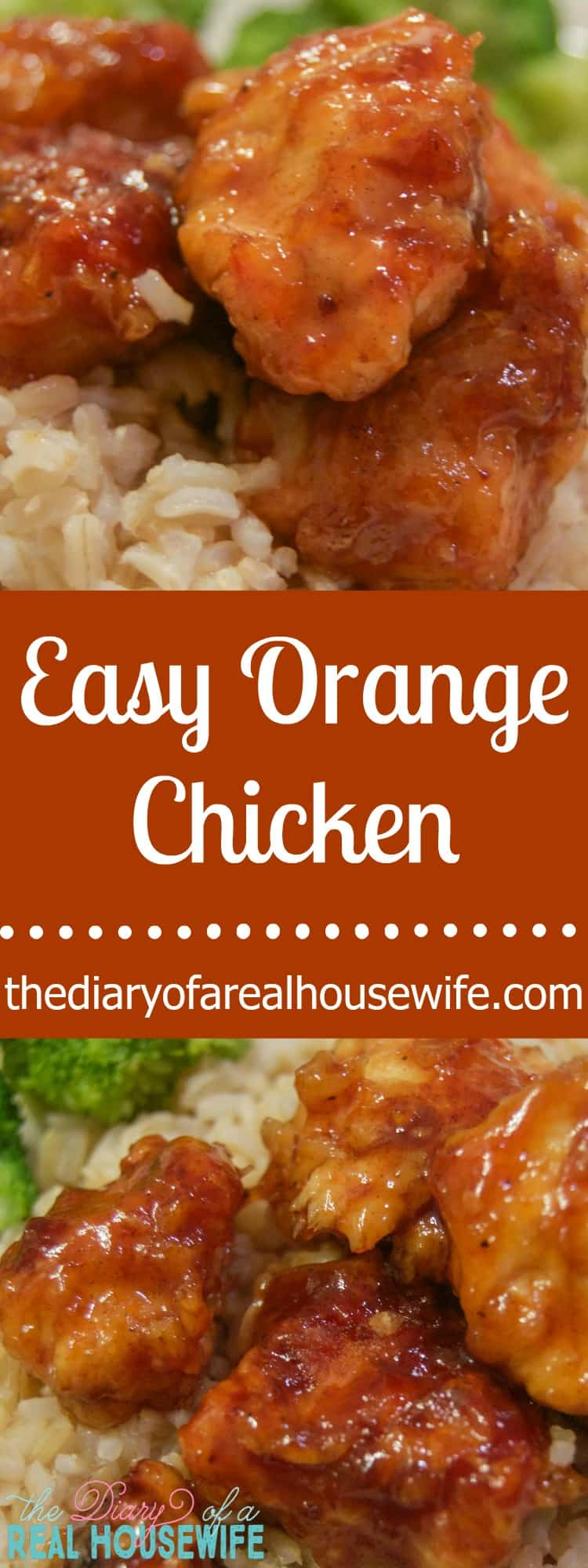 Easy Orange Chicken. Just as good as take out and this was so EASY to make!