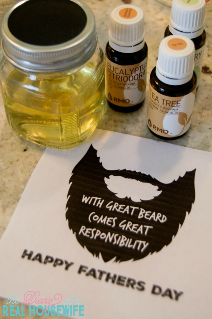 DIY Beard Oil for Fathers Day