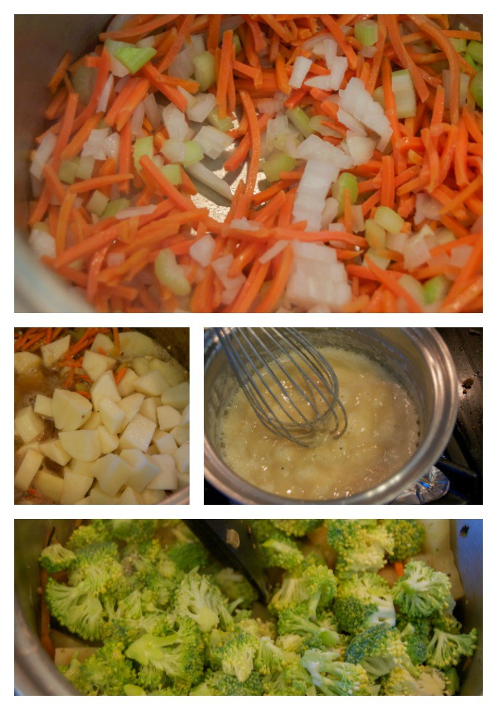 making-cheesy-vegetable-chowder