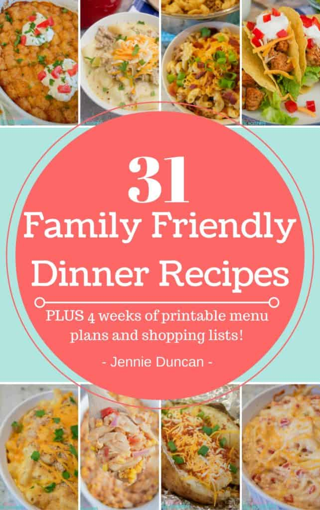 Cookbook cover, 31 Family Friendly Dinner Recipes